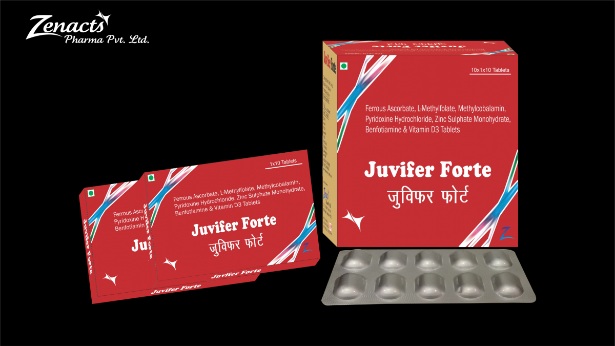 Juvifer-forte Top PCD Franchise Pharma Company in Chandigarh - Zenacts Pharma